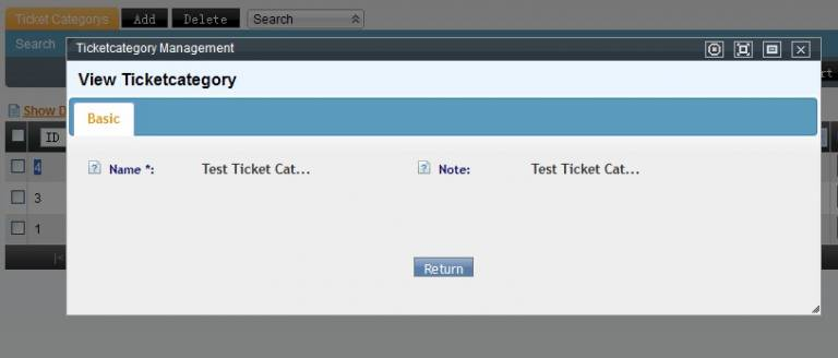 Edit Ticket Category Page